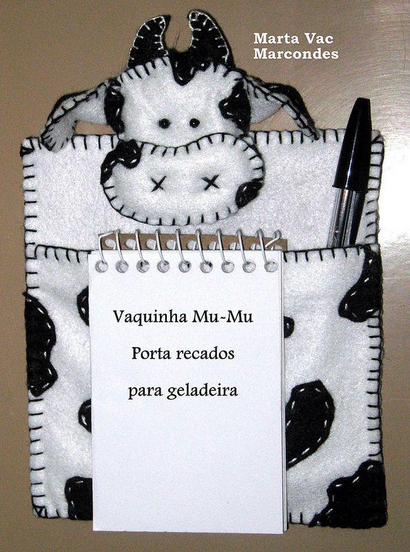 porta recados Vaquinha Mu-mu2