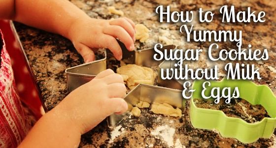 How to make yummy cookies without egg or milk!