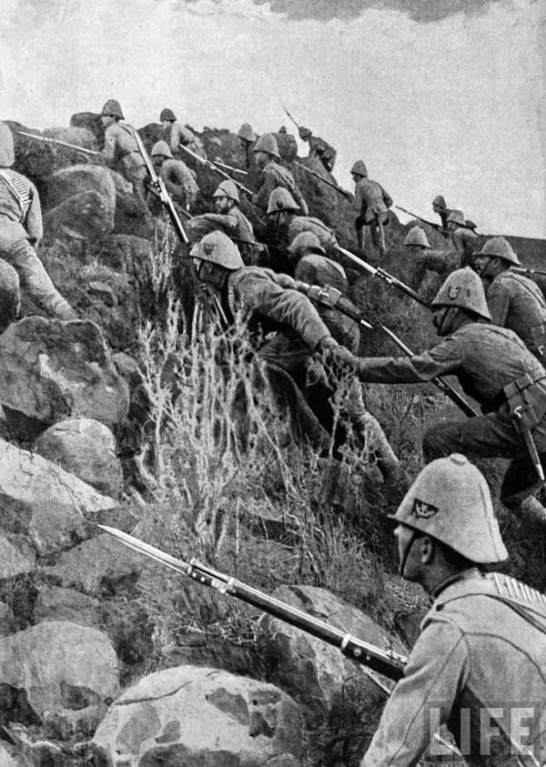 The Boer War of 1899, with Canadian Infantry.