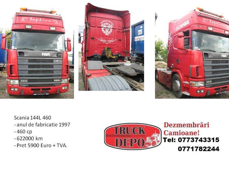 Vand Scania 144 L 460. Pentru mai multe detalii, contactati-ne: 0773 743 315, 0771 782 244, 0771 783 686, 0365 424 682, office@truckdepo.ro .