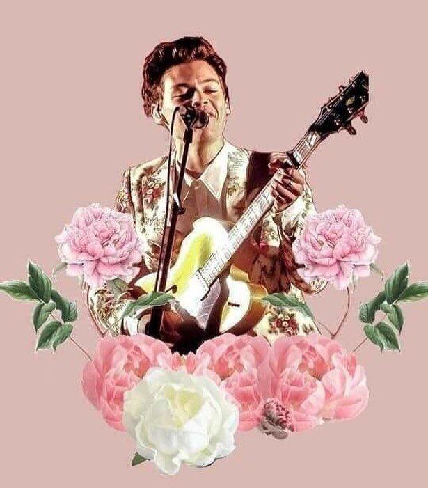 Harry Styles Pink Flowers Harry Styles Wallpaper Harry