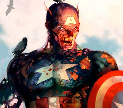 captain marvel zombie