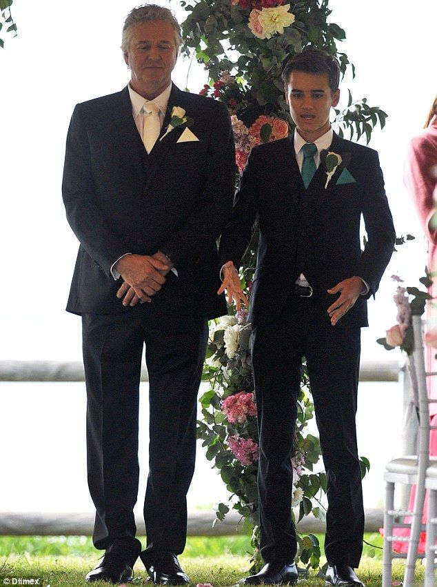 Best man: John and Jett stood at the alter together