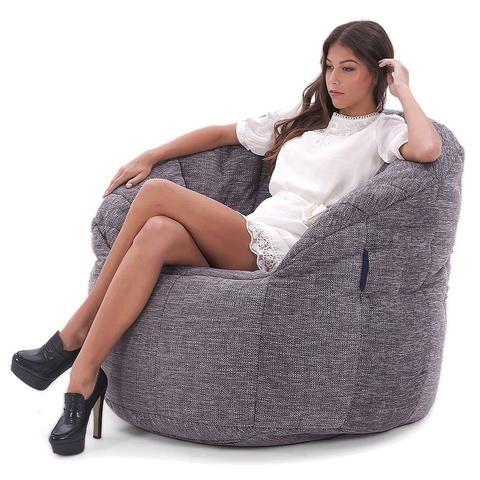 Interior Bean Bags | Butterfly sofa - Luscious Grey | Bean Bag Chair | Ambient Lounge