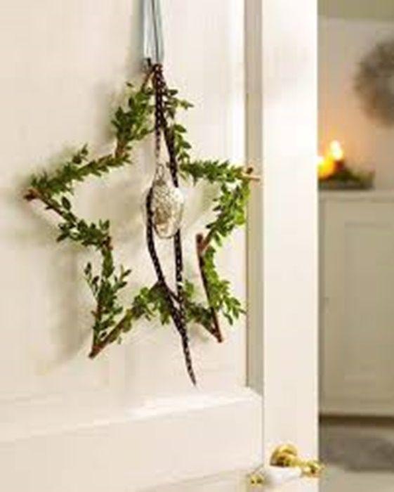 ¡Decora tu puerta o ventana con esta sencilla y bella estrella de la ilusión! #Christmas