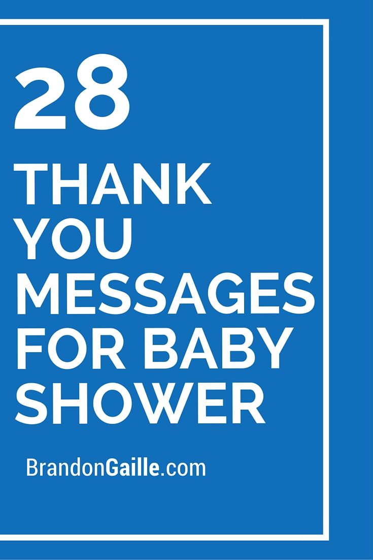 29 thank you messages for baby shower thank you card