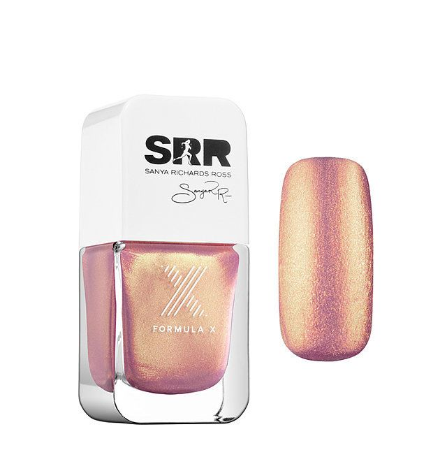 A dreamy metallic rose gold nail polish that shines every which way the light hits it. This goes on smooth and has a long-lasting finish.