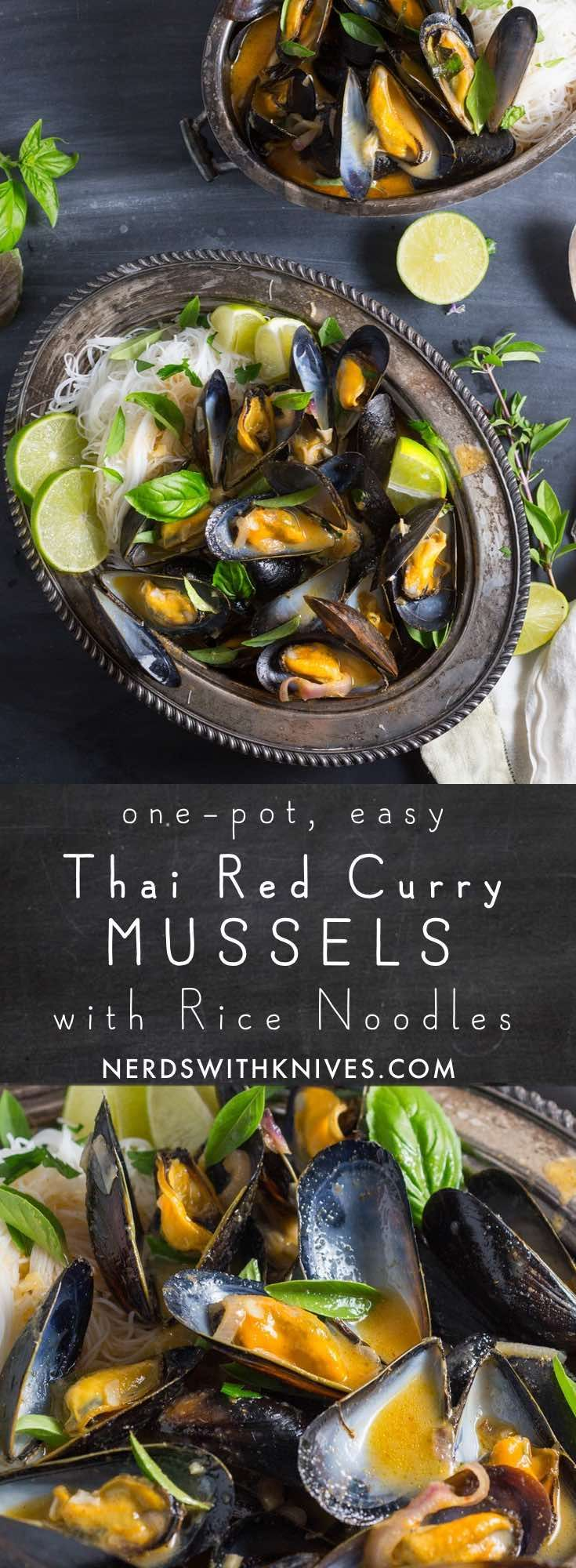 We spiced up our one-pot mussels with Thai curry sauce to make this red curry mussels recipe. It's cheap, it's delicious, and best of all, it's ready in 20 minutes!