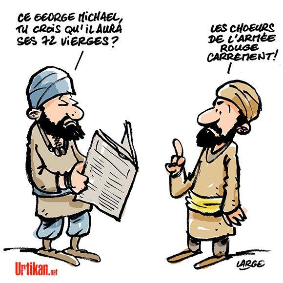 George Michael et l'armée rouge : l'état islamique connaît la musique… - Dessin du jour - Urtikan.net
