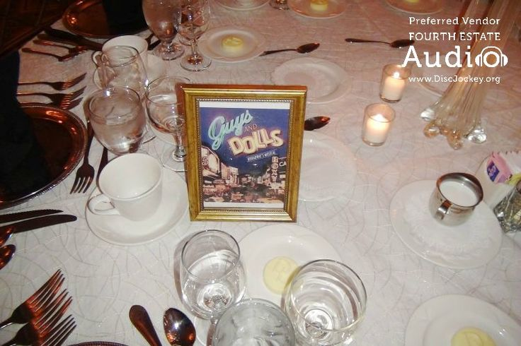 """Here's another dinner table -- the """"Guys and Dolls"""" table."""