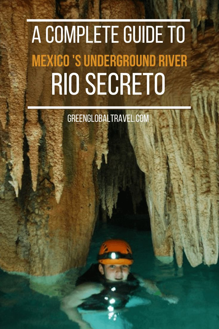 Discovered in 2004, Rio Secreto is an extensive system of caves and cenotes carved out over several centuries by an underground river. Check out the history of Rio Secreto, its significance to the ancient Maya & tips on where to stay during your Riviera Maya vacation. | Rio Secreto Cancun | Things to do in Cancun | Cancun Mexico | Playa del Carmen | via @GreenGlobalTrvl