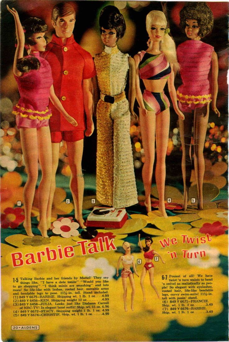 1969 ADVERTISEMENT Mattel Doll Talking Barbie Ken Julia Stacy Remco Tomboy | eBay