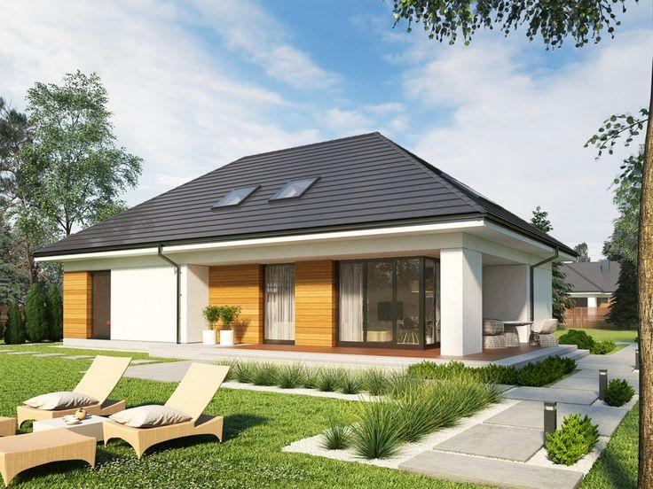 DOM.PL™ - Projekt domu AC Olaf G2 ENERGO PLUS CE - DOM AF7-85 - gotowy projekt domu