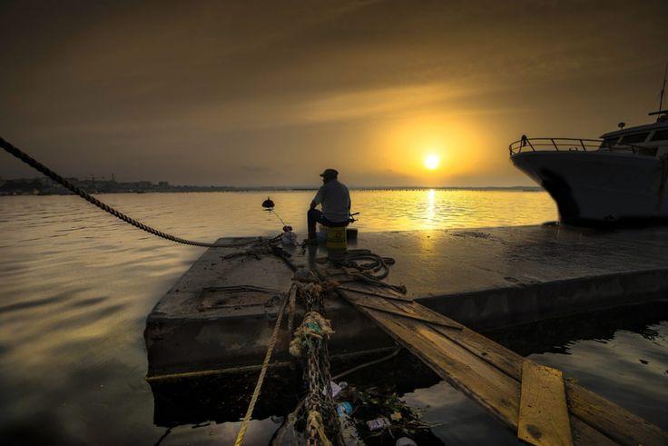 The dawn of the fisherman by Ciro Santopietro