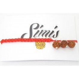 Rudraksha on 4 straind braded string in 10 available colours