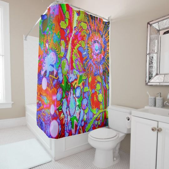 Wild KCRLS Shower Curtain This Totally New Now Intensely Psychedelic Will Transform Your Ablutions Into A Groovy Mind Expanding