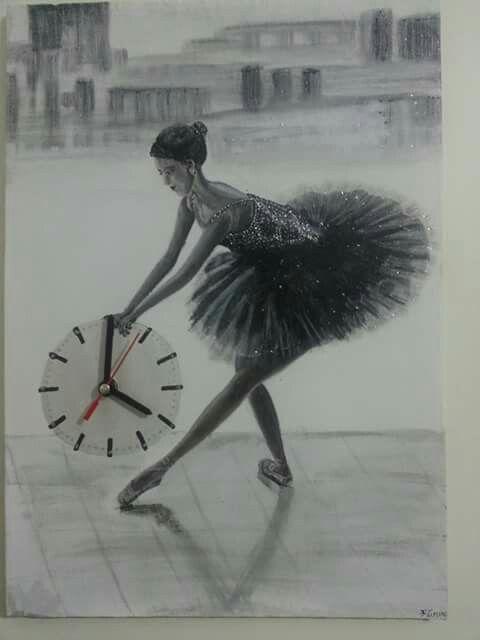 35*50 tuval akrilik boya  Fotograftan yaptığım  Orjinal Saat çalışır durumda