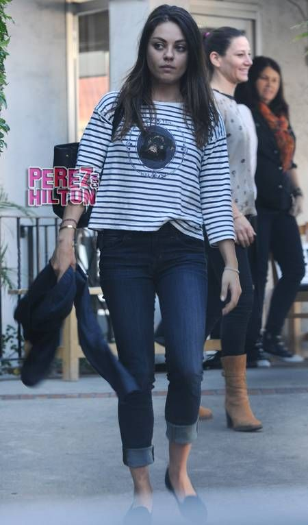 Mila Kunis Does It Doggy Style At Lunch  Without Ashton! -                                 We had no idea Mila Kunis was into    doggy - On-screen and real life lovers Mila Kunis and Ashton Kutcher may be feeling camera shy    style!  B