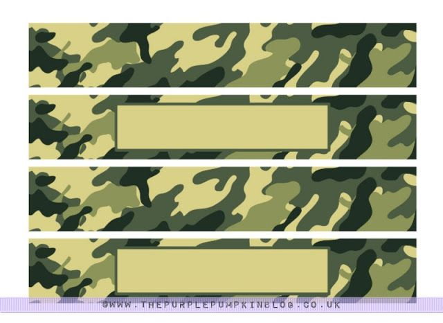 #Army/Military #Party Napkin & Cup Wrappers Free #Printable