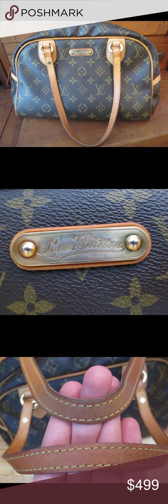 Louis Vuitton Montorgueil Pm Monty Monogram SP4009 Made in France, comes with dustbag and tag. Corners scuffed, name plate scuffed, patina, minor pen marks on interior, wear to handles Louis Vuitton Bags Shoulder Bags