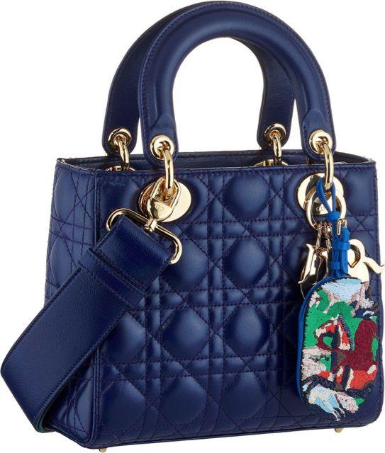 e0e341531ec Dior Blue Small Lady Dior Bag