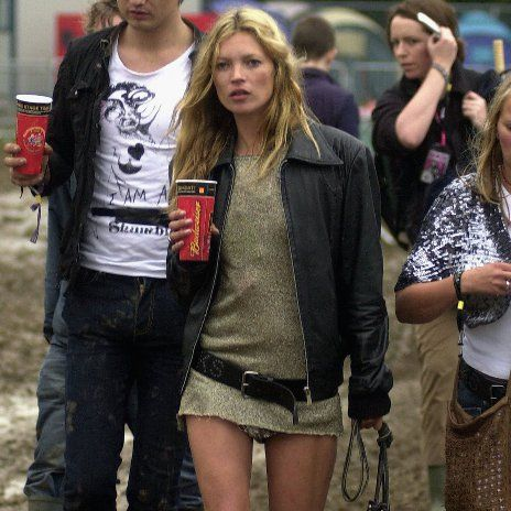 Pin for Later: Kate Moss, Patron Saint of Glastonbury Style