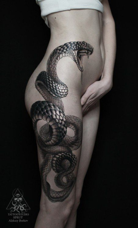 Aleksei Burkov. The detail on the scales is what I hoped for with my snake tattoo
