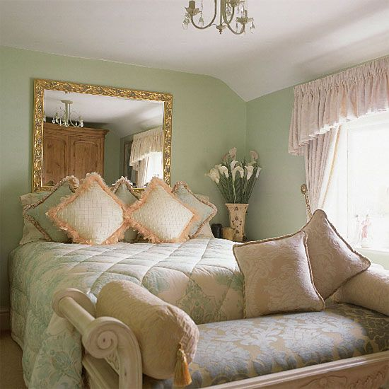 mint green gold peach cream and pale pink - Mint Green Bedroom Decorating Ideas