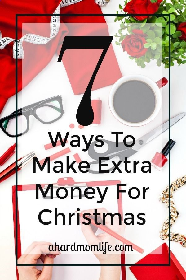 Looking for a little extra spending cash? Check out this list of ways to make and save money now for your holiday spending. via SaraBeth @ A Hard Mom Life