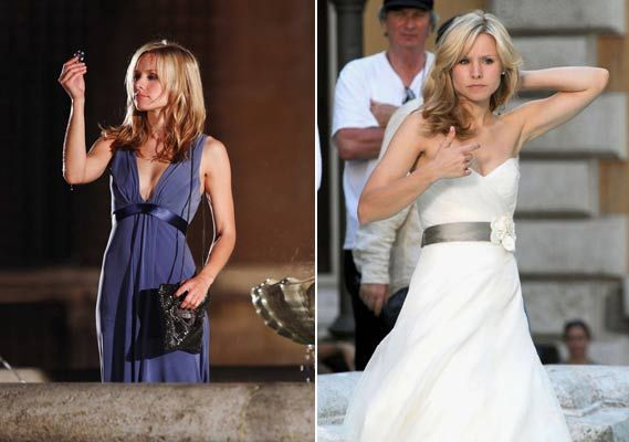 Favorite movie wedding dress..Kristen Bell, When in Rome...bridesmaid dress from earlier in the movie is cute too :)