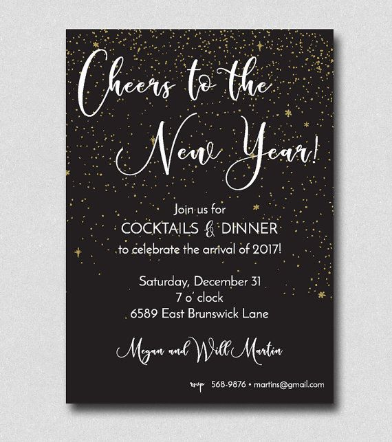 25 Best New Years Eve Invitations Images On Pinterest