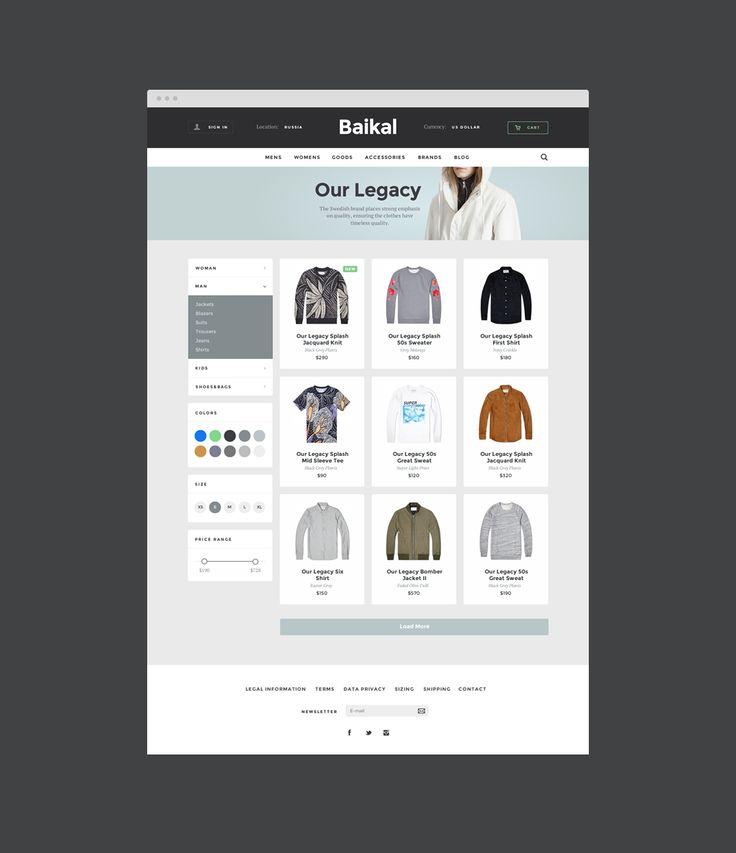 Baikal UI Kit: E-Commerce by Alexey Rybin