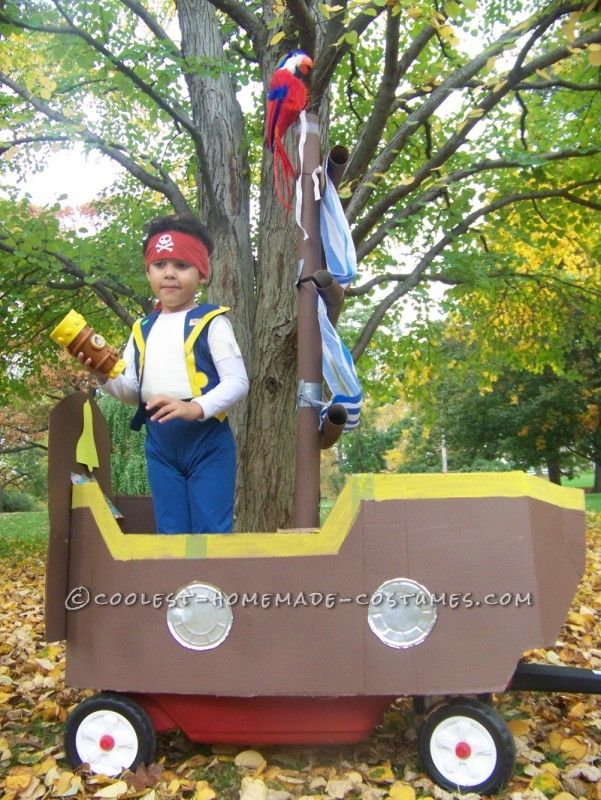 how to turn a childs wagon into a pirate ship for halloween - Kids Halloween Radio