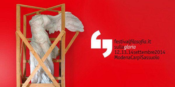 Torna il Festival della Filosofia, quest'anno la XIV edizione è intitolata Dalla gloria alla celebrità. In programma in 40 luoghi diversi delle tre città più di 200 eventi tra lezioni magistrali, mostre, spettacoli, letture, giochi per bambini e cene filosofiche... http://www.undo.net/it/mostra/180472