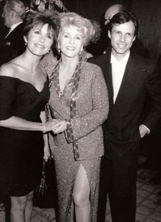 Carrie and Todd Fisher w/ mother, Debbie Reynolds