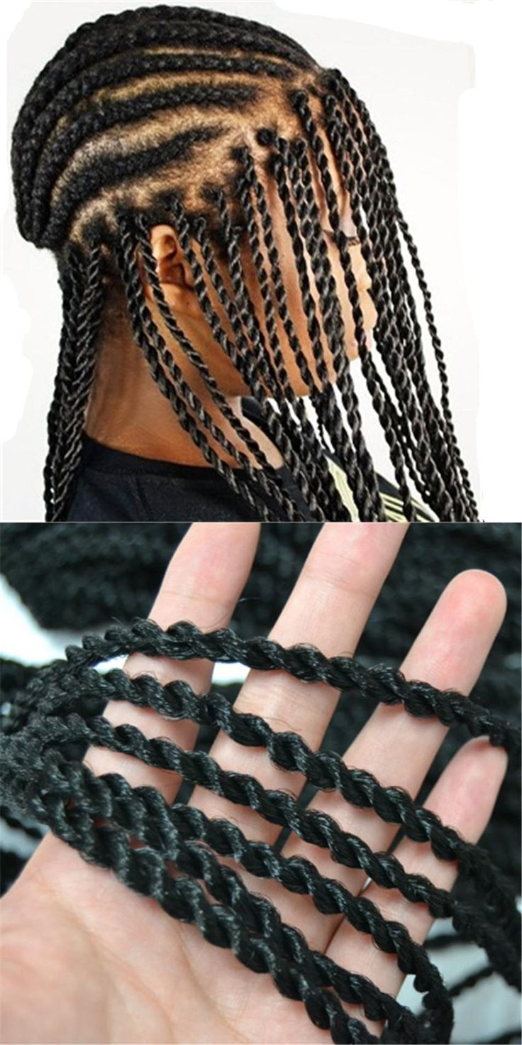 Feibin Crochet Twist Braids Hair 18 Inch Long Crochet Braids Synthetic Hair Extensions Full Head