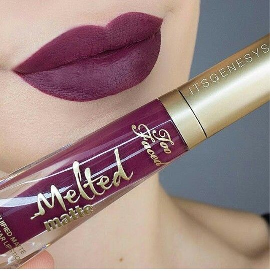 Too Faced melted matte liquid lipstick in On Point