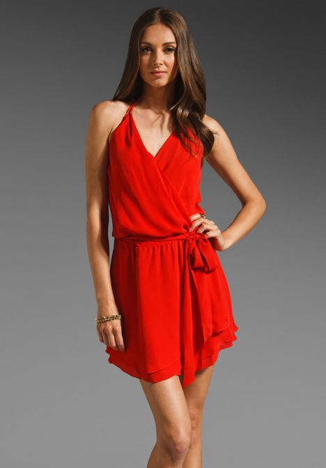 Haute Hippie - Red Mini Halter Dress  Dresses  Pinterest  Haute ...