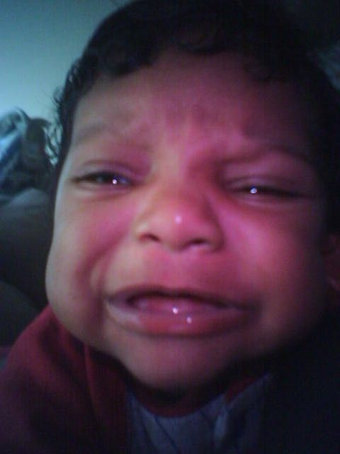 This was Dezmond crying. Linda writes at Moms.com