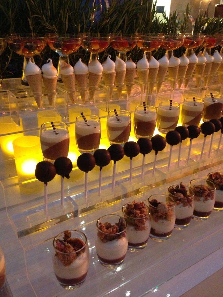 Dessert Buffet Presentation   Miniature Desserts Display ...
