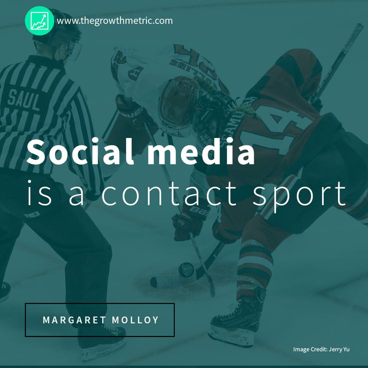 """""""Social media is a contact sport."""" – Margaret Molloy, CMO of SiegelGale.    #Business #BusinessQuotes #MarketingQuotes #Marketing #SocialMediaMarketing"""