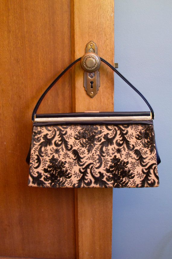 1950's Purse // Carpet Bag Chenille Floral and by GarbOhVintage, $68.00