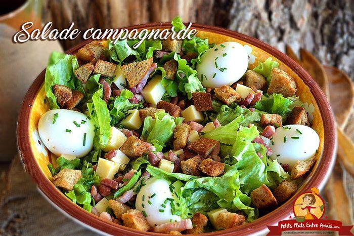 Aujourd'hui je vous propose une salade campagnarde. C'est le plat parfait pour un repas facile et rapide à préparer le soir. Cette salade gourmande et rustique comblera tous les appétit…