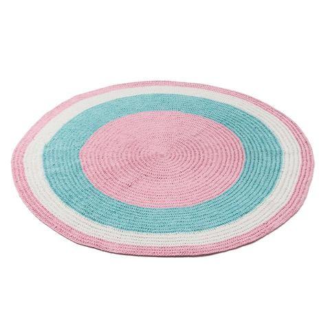 pink Crochet Rug tiny Little Wonders $15 kmart