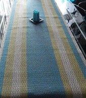 Hand woven table runner, linen.