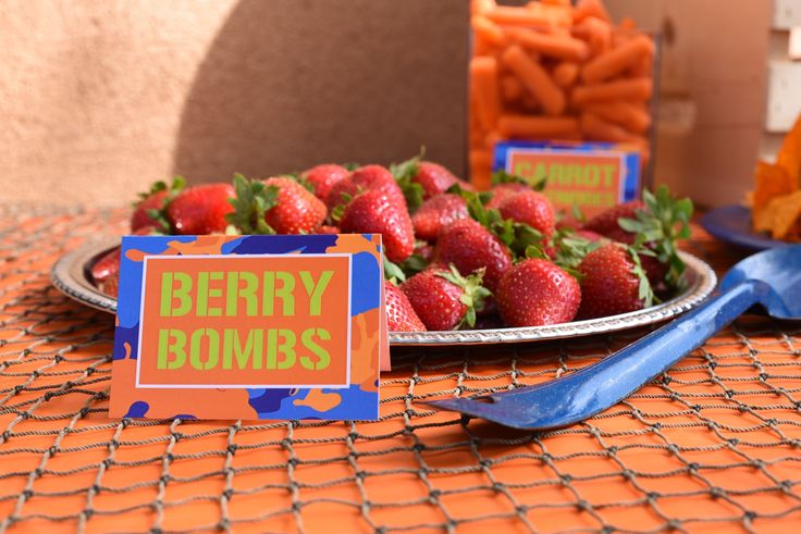 Nerf Birthday Food Ideas: Strawberry Bombs                                                                                                                                                                                 More