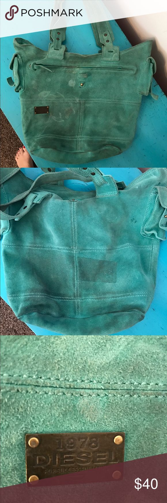 Diesel turquoise purse. Diesel purse. Used condition with some wear but lots of life left. Gorgeous purse in a turquoise color. Diesel Bags Shoulder Bags