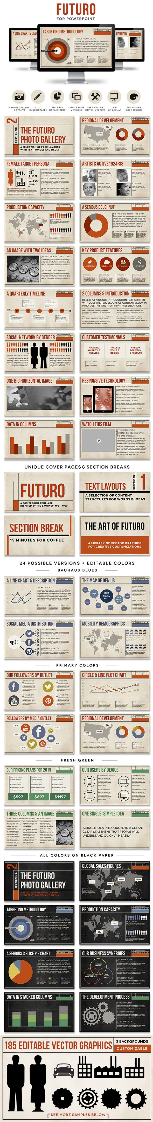 Futuro Powerpoint Presentation Template - great for eBooks, slide decks and creative presentations!