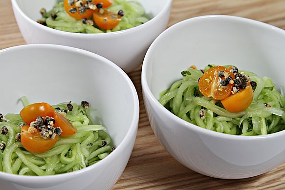 Cucumber salad with mint and capers...: Fries Caper, Diet Recipes, Fresh Mint, Cucumber Fresh, Cucumber Linguine, Caper Recipes, Cucmber Linguini, Summer Recipes, Cucumber Linguini