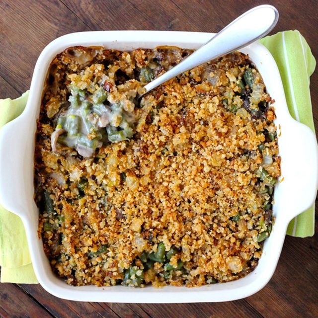 Originally fabricated by Campbell's Soup Company, green bean casserole has been on the Thanksgiving dinner table for generations.